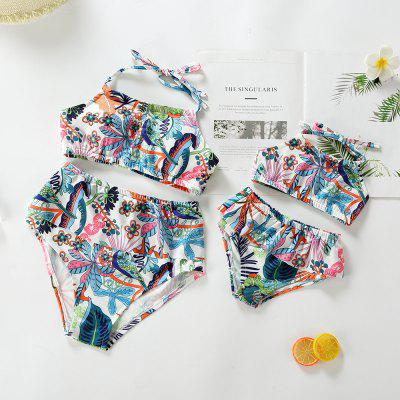 3309 Split Printing Parent-child Bikini Swimsuit