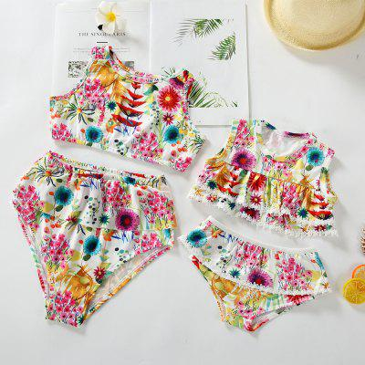 3305 Parent-child Print Swimwear Swimsuit