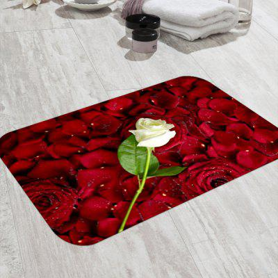 Petal and Rose Floor Mat for Home