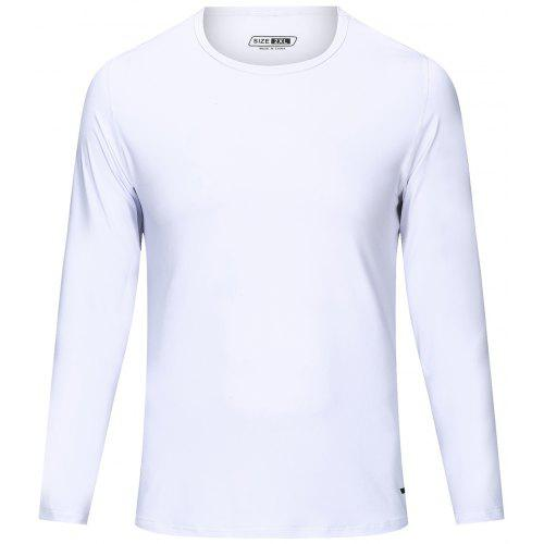 Tee Longues M RespirantBlanc Shirt Coupe Slim Manches Homme Y76vmfIgby