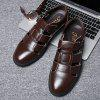 Men's Summer Casual Business Leather Sandals Anti-slip - CHESTNUT RED