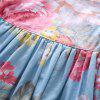1271 Girls Polyester Small Floral Print Flying Sleeve Dress - LIGHT BLUE