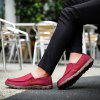 Men's Summer Fashion Breathable Casual Shoes Slip-on - RED WINE