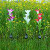 Sluneční energie LED Flower Light 3PCS - MULTI-A