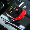 C22 Bluetooth Wireless FM Radio Transmitter Adapter Car Kit - VALENTINE RED