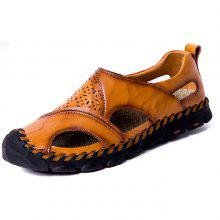 Gearbest price history to Men's Leather Breathable Sandals Soft for Summer