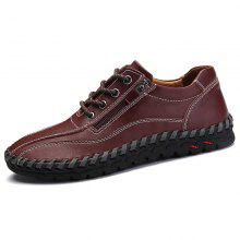 huge sale 85e05 0dc3d Men s Leather Hand Stitching Casual Shoes Breathable Outdoor