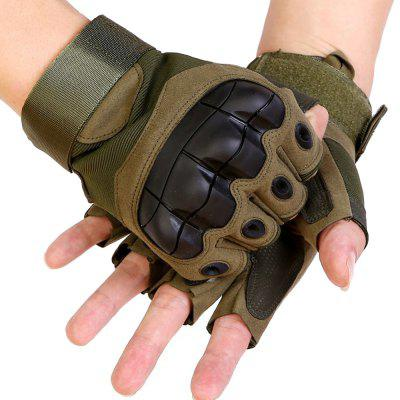 Tactical Riding Half Finger Gloves Skid Fighting Mountaineering Outdoor Mitten