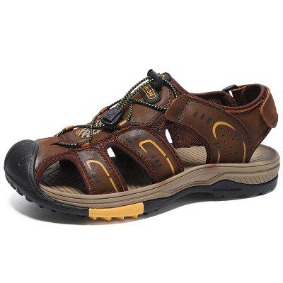 Men's Summer Leather Durable Sandals Breathable
