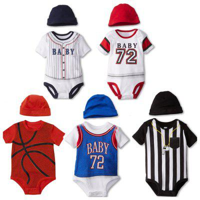 Boys Baseball Basketball Romper Trouser Set