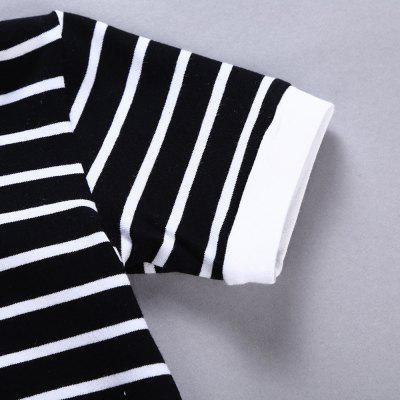 Striped Cotton Baby Romper Trouser
