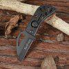 518 All Steel Folding Knife Cutter with Nylon Sleeve - BLACK
