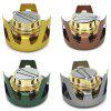 Outdoor Portable Aluminum Alloy Alcohol Stove Burner Cooking Tool with Sealed Cap Fire Extinguish Lid - GOLD