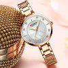 CURREN 9051 Women's Concise Round Dial Waterproof Quartz Watch with Case - ROSE GOLD