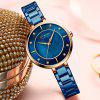 CURREN 9051 Women's Concise Round Dial Waterproof Quartz Watch with Case - BLUE