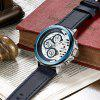 REWARD RD63086 Men's Business Waterproof Leather Belt Quartz Watch - BLUE