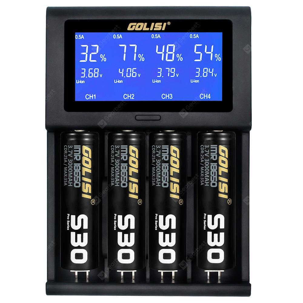 GOLISI i4 USB LCD 2A Battery Charger - B