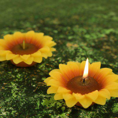 Household Creative Sunflower Candle