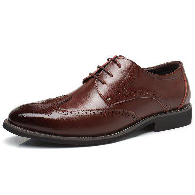 Men's Business Leather Bullock Classic Dress Shoes Lace-up