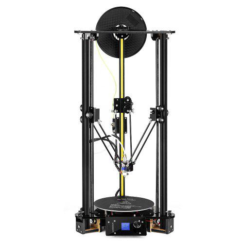 Gearbest Alfawise Delta 3D Printer 180 x 180 x 320mm with Screen - Black EU Plug High Printing Speed / Quick Assembly / Open Source / DIY Kit