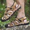 Men's Fashion Casual PU Sandals Hollow-out Breathable - LIGHT BROWN