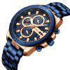 CURREN 8337 Men's Large Waterproof Quartz Watch - BLUE