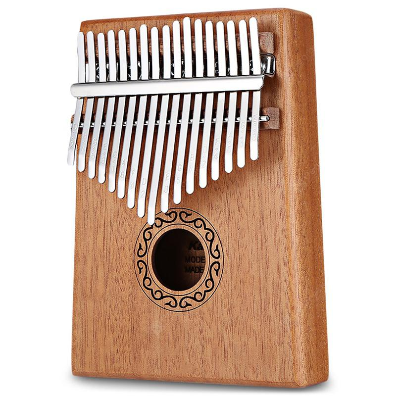 17-tone Wooden Kalimba Thumb Piano - BurlyWood
