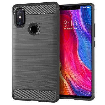 leeHUR Carbon Fiber TPU Phone Case for Xiaomi Mi 8 SE