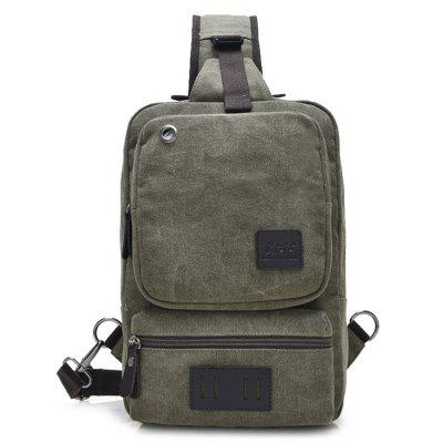 Canvas Men inclinado bolsa de ombro