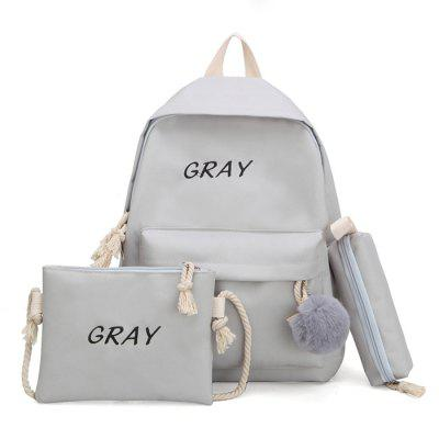 J865 Fashion Casual Mother-child Canvas Backpack 3PCS