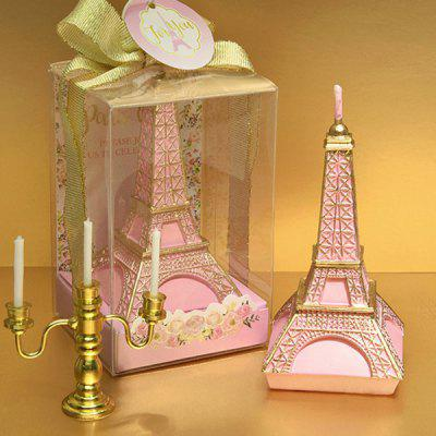 Pink Iron Tower Candle