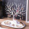 Creative Tree Style Earring Bracelet Necklace Jewelry Storage Rack - WHITE
