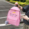 Q6611 Fashion Women Canvas Backpack Schoolbag 4pcs - LIGHT PINK