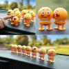 Funny Expression Doll Car Decoration Accessory 8PCS - BRIGHT YELLOW