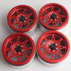 2.2 inch Wheel Hub for Remote Climbing Car 4PCS - RED