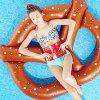Summer Beach Outdoor Toy Inflatable Floating Bed - BROWN