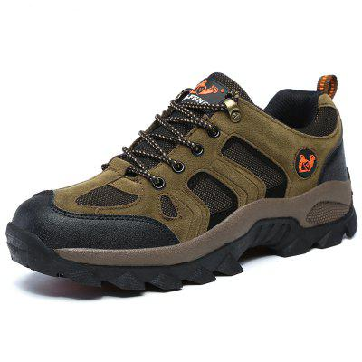 Mens Durable Breathable Outdoor Hiking Shoes Lace-up