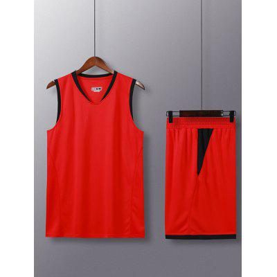 Men's Summer Quick-drying Running Tracksuit Vest Shorts Loose Fit