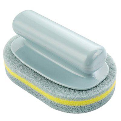 Elliptical Magic Wipe Cleaning Brush with Handle