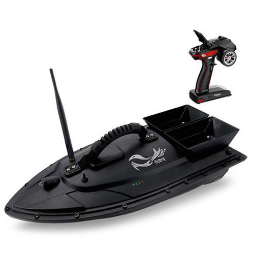 Gearbest Flytec V500 Fishing Bait RC Boat - Black EU Plug 500m Remote Fish Finder / 5.4km/h Maximum Speed / Double Motor