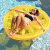 Round Orange Shape Inflatable Floating Bed - YELLOW
