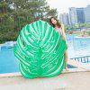 Green Leaf Shape Inflatable Floating Bed - GREEN