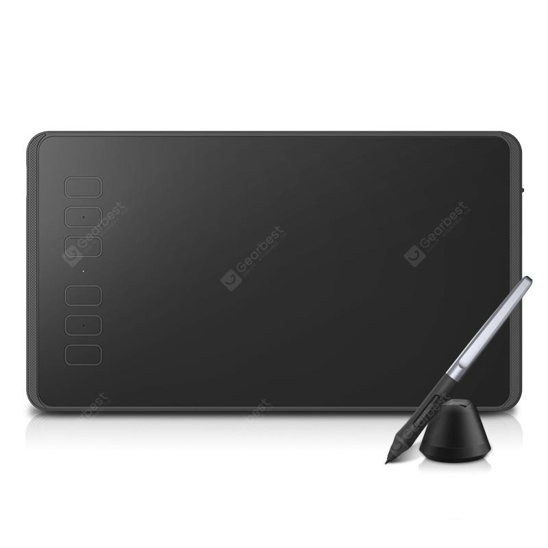 Huion 640P Digital Tablet Drawing Panel Passive Pen - Black