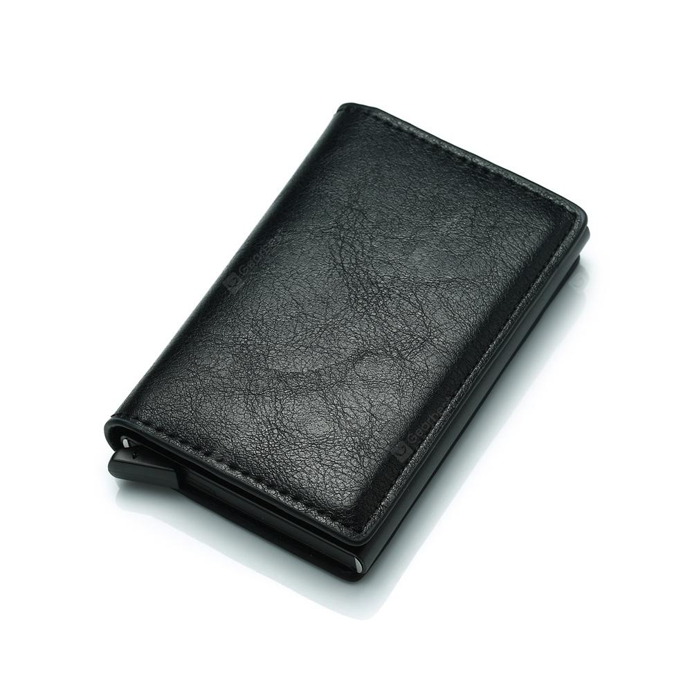 Aluminum Alloy Automatic Elastic Card Package PU Wallet