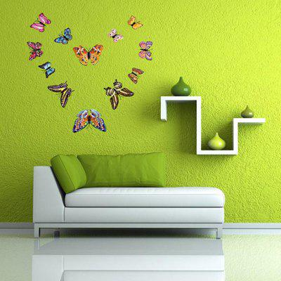 Luminos 3D Butterfly Pagina de decorare Wall Sticker 12pcs