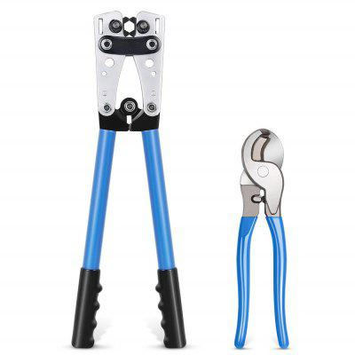 Battery Cable Lug Hand Electrician Crimping Pliers with Cord Cutter