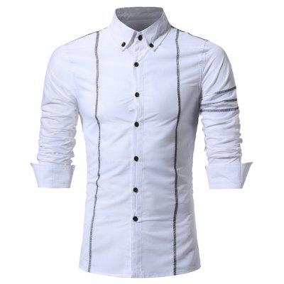 Chemise Homme Manches Longues Casual Slim Fit
