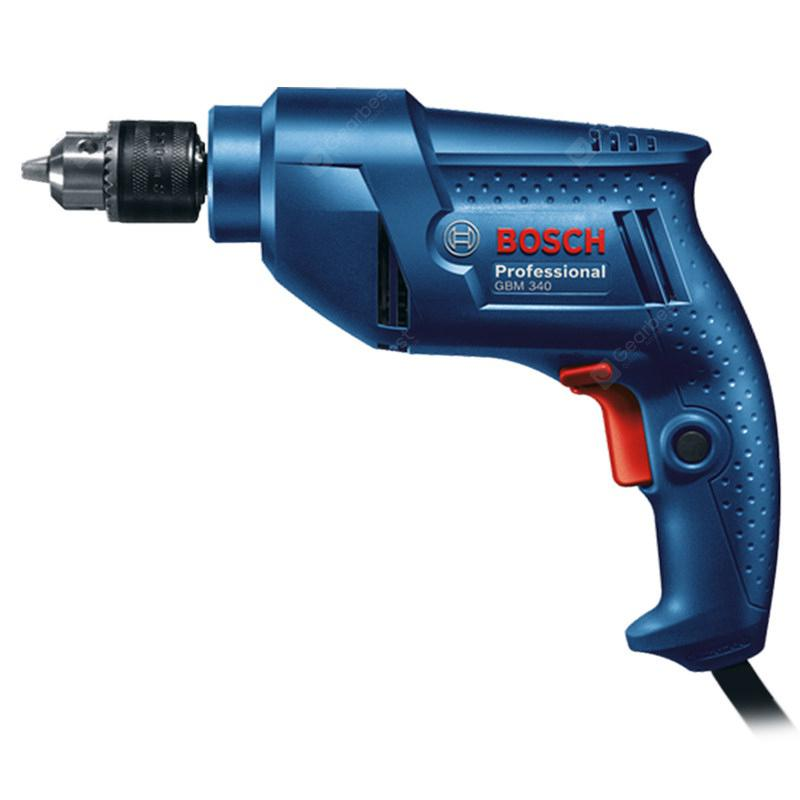 Bosch GBM340 Multifunction Hand Electric Drill Adjustable Speed - Ocean Blue