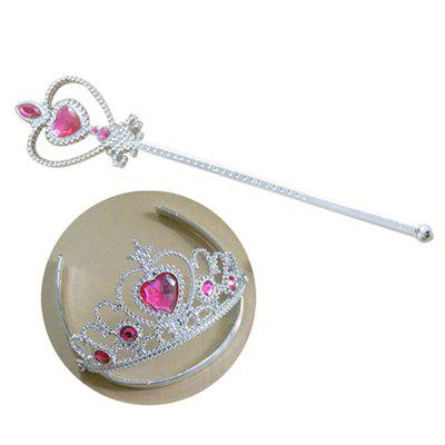 Girl Crown Magic Wand Set Pretend Paly Toy