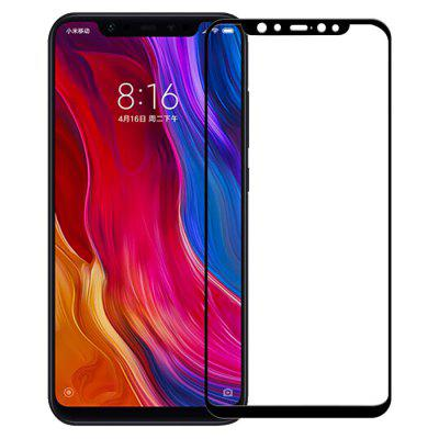 QULLOO 2.5D Full Coverage Tempered Glass Screen Protector for Xiaomi Mi 8